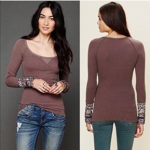 •Free People• Studded Hippie Cuff Thermal Brown